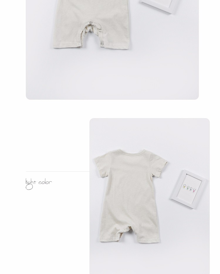Custom breathable clothes short sleeve rompers baby clothes newborn stripe rompers