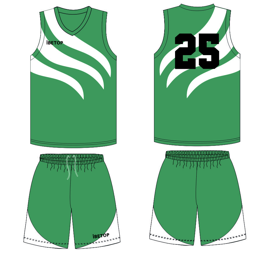 Black And Green Reversible Basketball Jersey Set Latest Design 2016