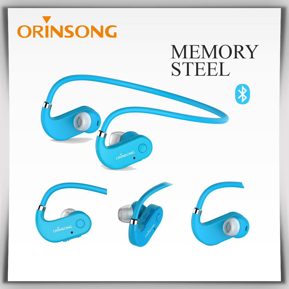 Easy carry memory steel headband handsfree call headphone sport wireless music earphone with clear voice