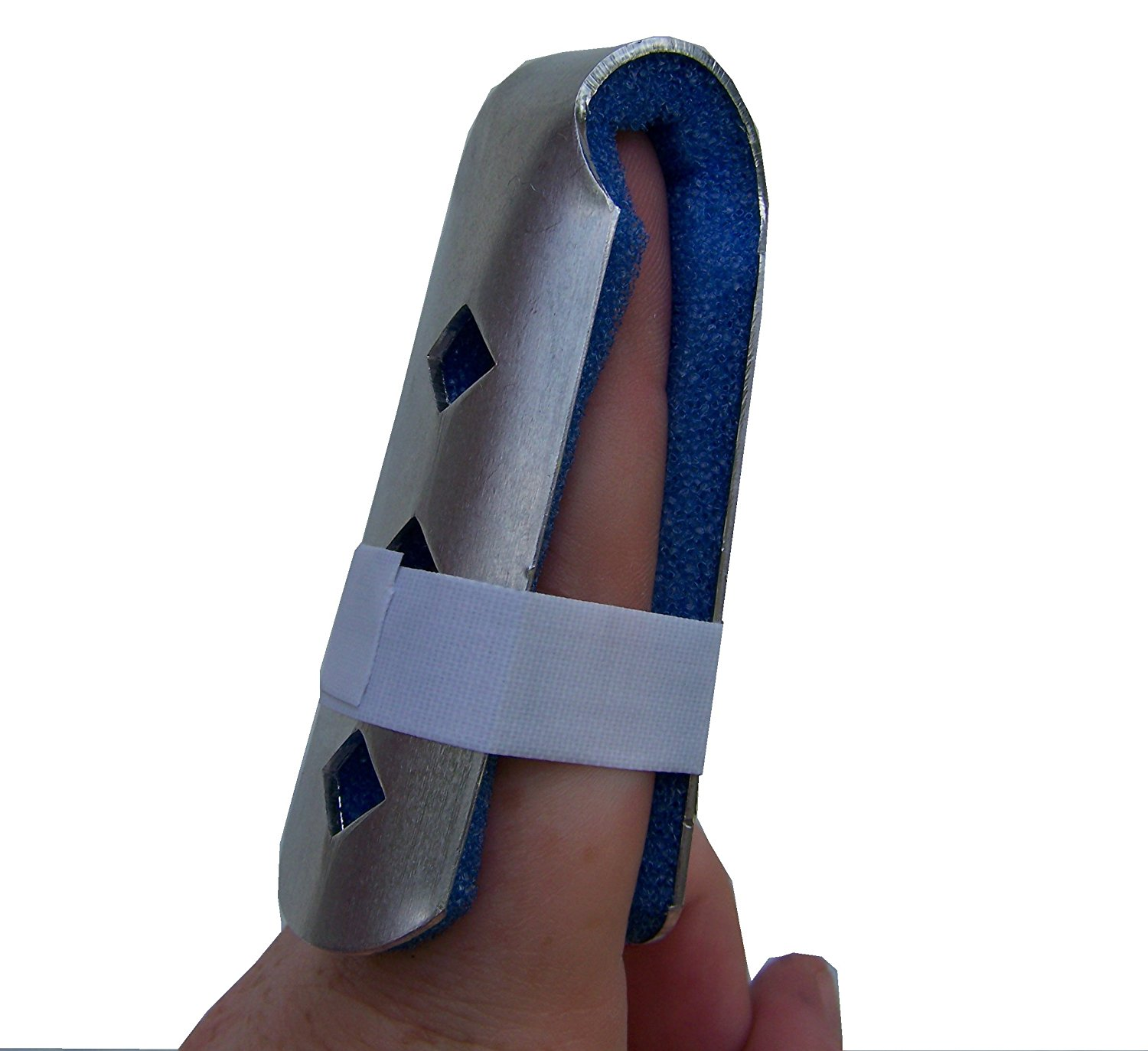 Alpha Medical Fold Over Finger Splint/Finger Cot/Jammed Finger Brace (small)