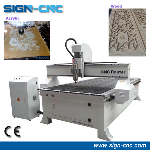 SIGN 1325 reasonable price cnc wood carving machine/ 3d woodworking router / 3.0kw cnc routers for wood