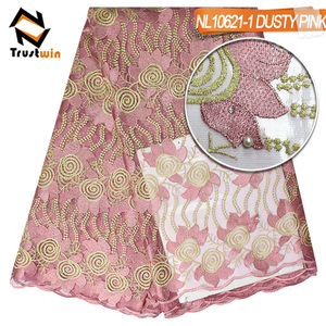 Cheap african dress making lace fabric for women wedding dresses