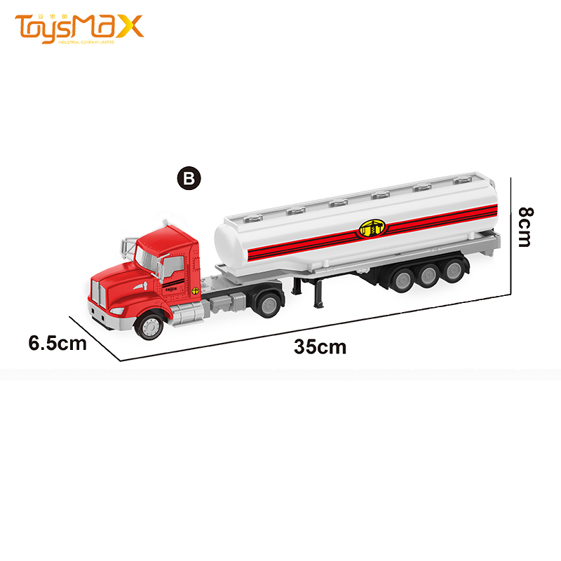 China 2019 New hot sale US Styles 1:43 Diecast Alloy Toys Truck Trailer Metal Oil Tank Trailer