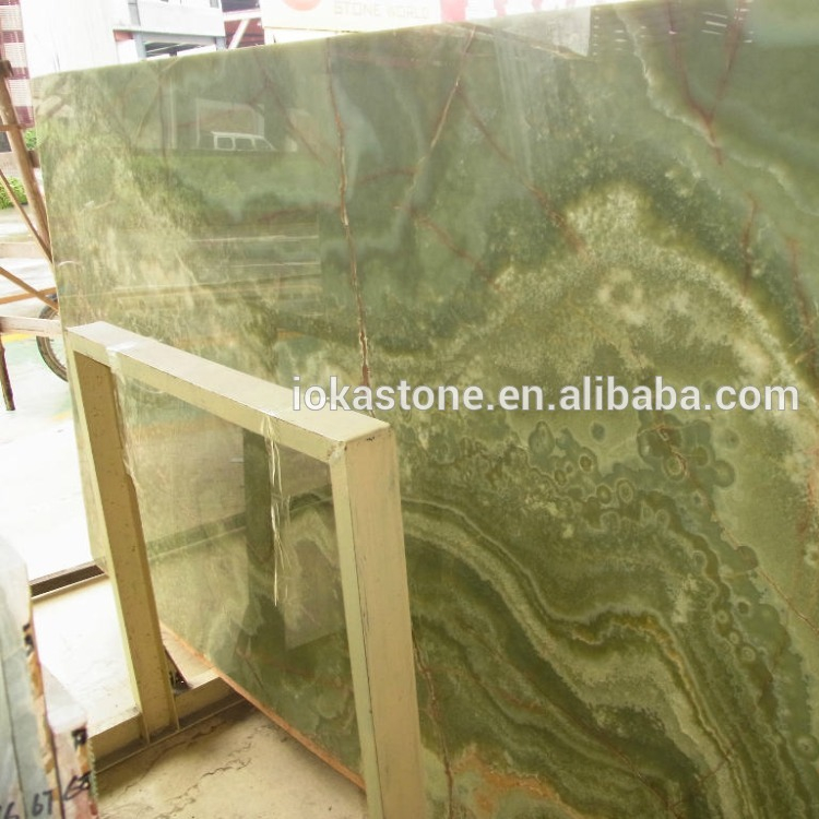 Nice Translucent Green Jade Onyx Marble for Five Star Hotel