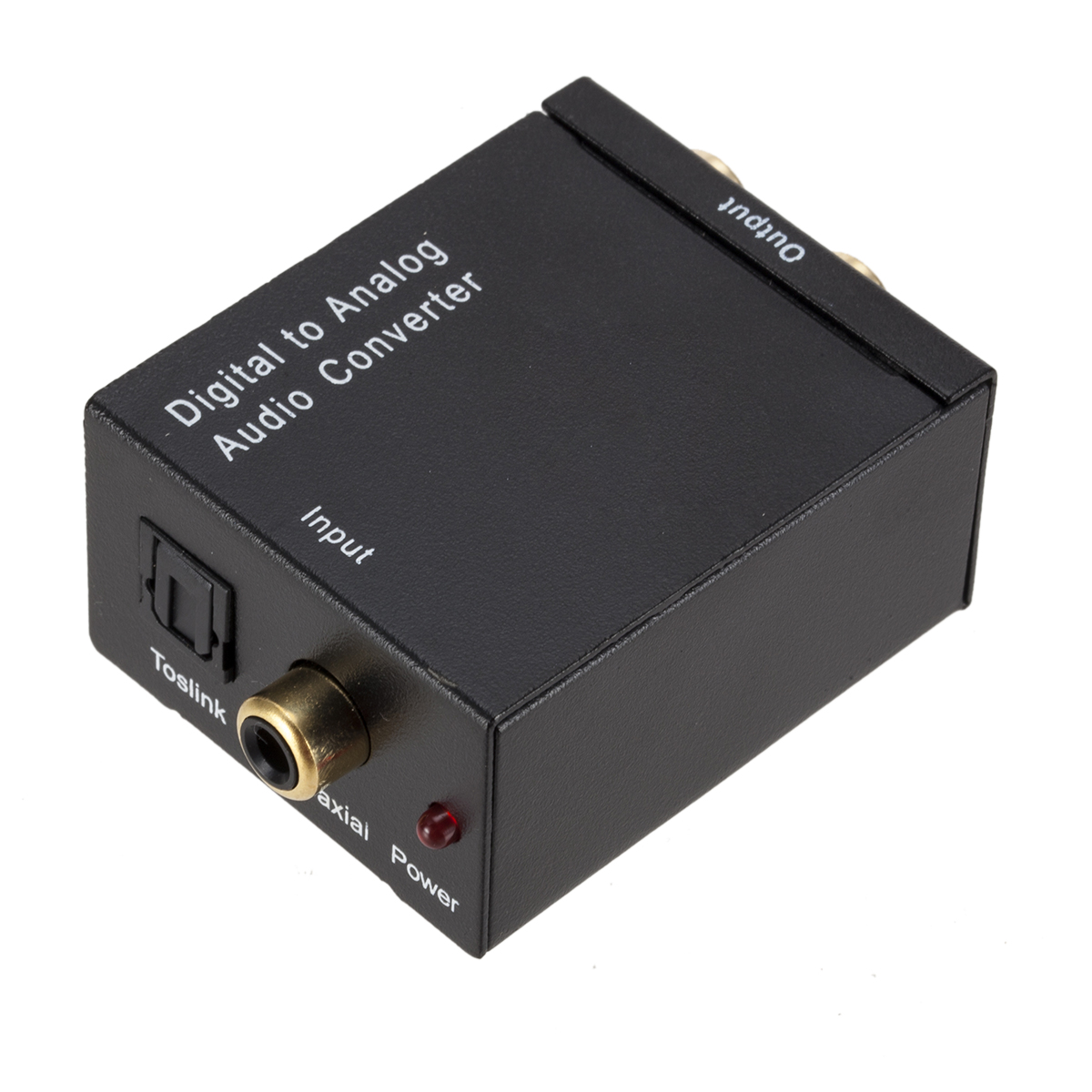 Digital Optical Membujuk Koaksial Toslink untuk Analog RCA L/R Audio Converter