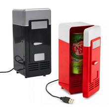 NEW Design Popular Mini USB Fridge Cooler Beverage Drink Cans Cooler/Warmer Refrigerator USB Gadget for Laptop/PC