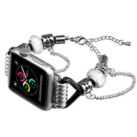 Apple watch aluminum with stainless steel band Pandora style apple strap metal bracelet Apple watch band series 5 4