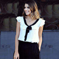 Front Short And Long Back Blouse Natural Color Office Shirts