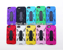 For iphone5 cvoer case with holder, Silicon+PC material case