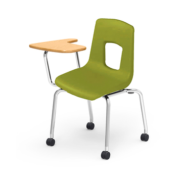 college school student caster chair with writing tablet arm and