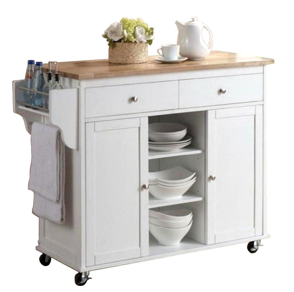 Holz top weiße farbe kleine küche insel wagen wandschrank produkt ...
