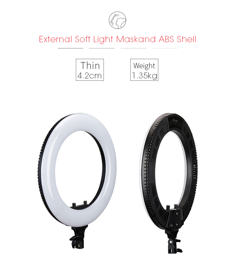 Dongguan Tolifo Fotografische Verlichting 18 inch Dimerable Bicolor Studio Selfie Led Video Ring Licht met Stand