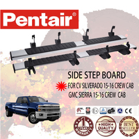PENTAIR RUNNING BOARD SIDE STEP BAR FOR SILVERADO /GMC SIERRA 2015-2016 EXTEND CAB CAR RUNNING BOARD