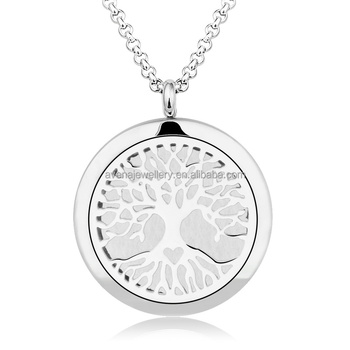 X27 tree life design aromatherapy perfume pendant stainless steel x27 tree life design aromatherapy perfume pendant stainless steel pendants essential oil diffuser necklace aloadofball Choice Image