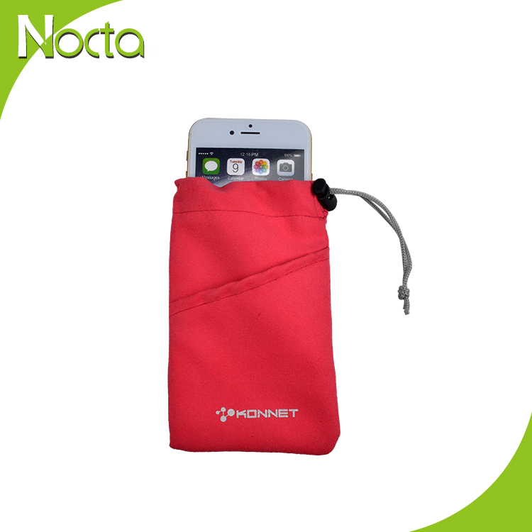 Microfiber Soft Glasses Bag with logo printed