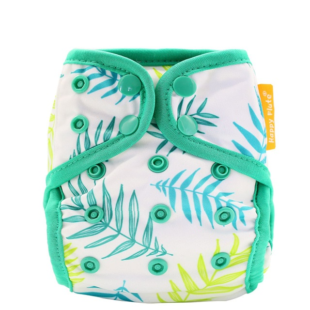 Happy flute all in one diaper velour adjustable baby nappy heavy wetter ai2 cloth diapers