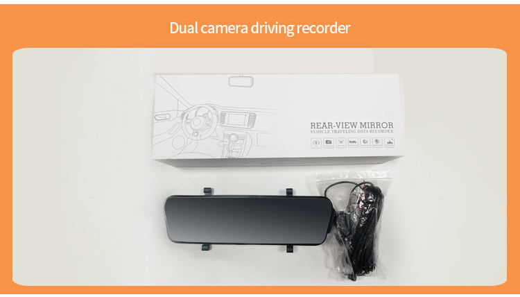 Car Dvr 10 Inch Dash Camera Touch Stream Mirror With RearView Camera FHD 1080P Dash Cam Video Recorder Auto Registrar