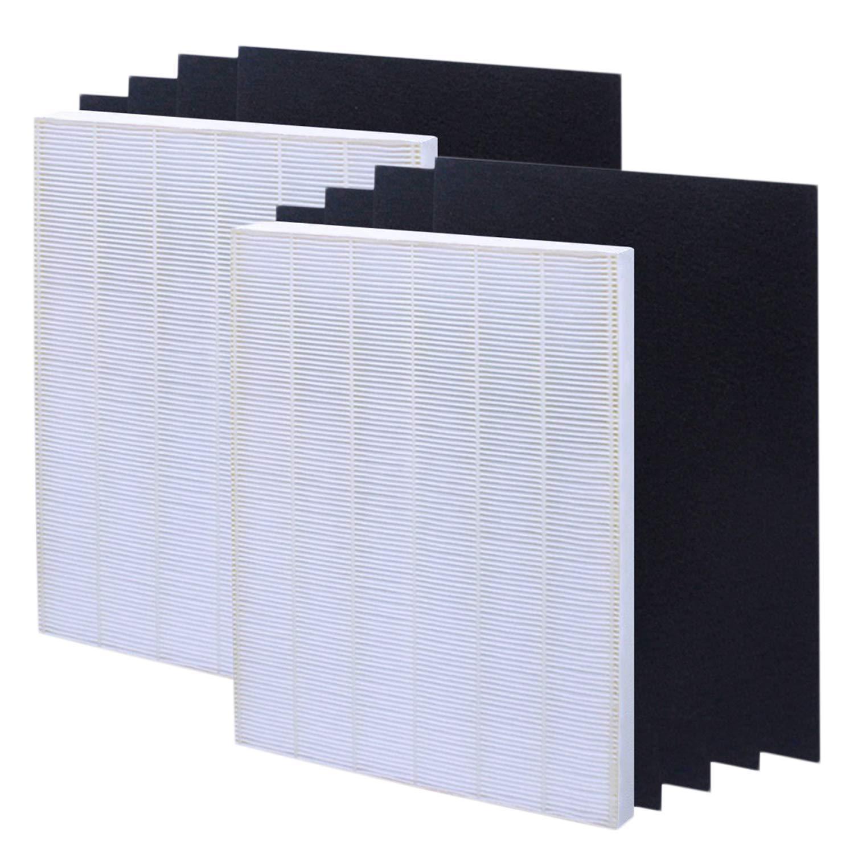 isinlive True HEPA Plus 4 Carbon Replacement Filter A 115115 Size 21 Compatible Winix PlasmaWave air Purifier 5300 6300 5300-2 6300-2 P300 C535, 2-Pack