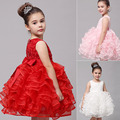 2016 Summer Style Girl Dresses For 4 10 Years Old Kids Rose Pattern Toddler Girls Lace
