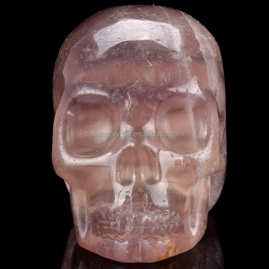 Wholesale natural rock polished purple fluorite quartz stone crystal skull for sale