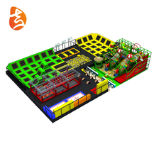 Customized Big Square Kids Playground Indoor Trampoline Park Equipment With Trampoline Accessories