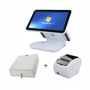 15'' touch pos machine double screen pos system for point of sale with thermal printer pos cash register for hotel