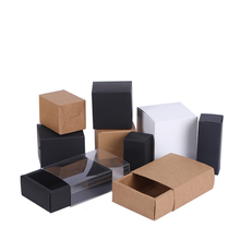Custom Plane Brown Kraft Craft Paper Jewelry Pack Boxes Small Gift Box