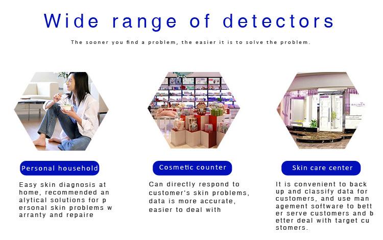 CE ROHS Certificering LCD-display Digitale Gezicht Vocht Draagbare Analyzer Machine Skin Vochtmeter