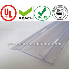 customized PVC shelf talker,fast grip with ticket,sign holder,data strip