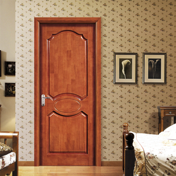 Solid Wood Main Entrance Door Design Oil Painted Waterproof Mositure Proof