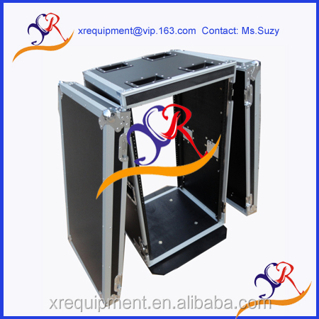 High quality 18U Amplifier deluxe flight case /rack road case