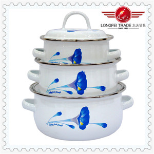 Cheap wholesale different colored enamel steel cookware
