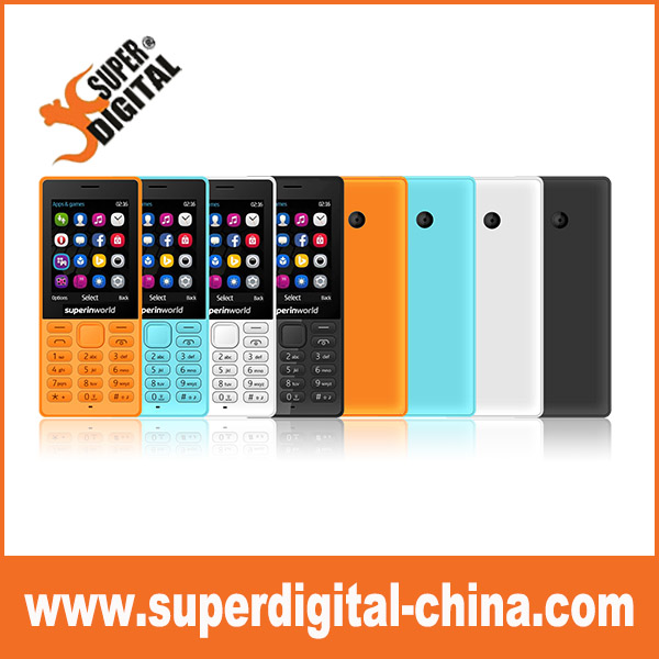 Superinworld 2.4inch bar feature mobile phone on stock for sale without MOQ