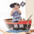Teamson Kids - Kids Pirate Ship Ride On Toy with Sword, Scope and Hat