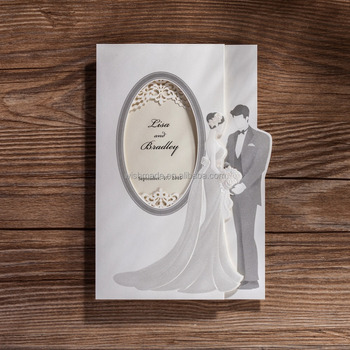 2017 Bride Groom Design Wedding Invitation Card White Cw5189 Buy