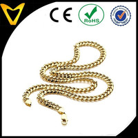7.5MM Lobster Claw Clasp 14K Yellow Gold REAL Light Miami Cuban Curb Link Chain Necklace