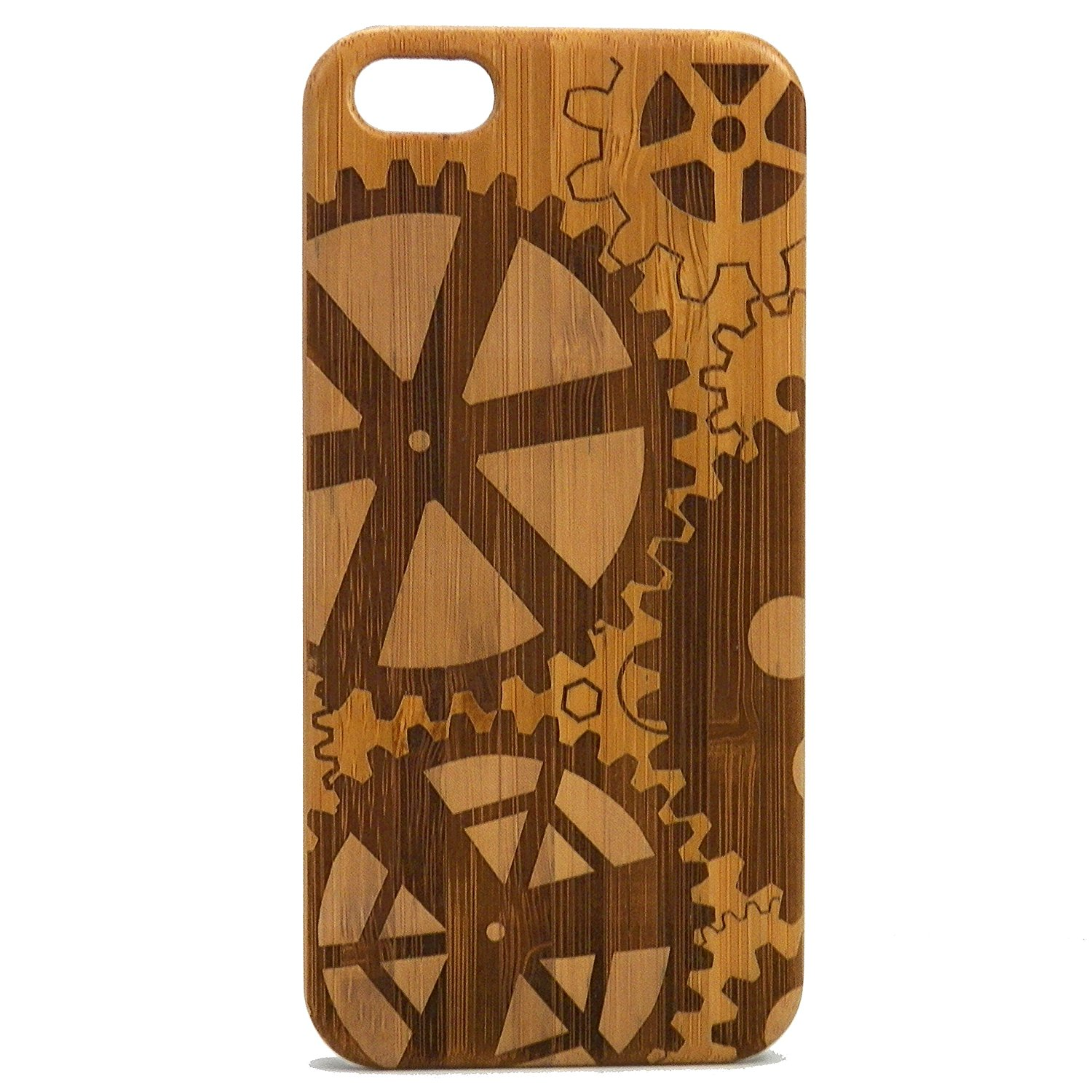 Steampunk Gears iPhone 6 Plus or iPhone 6S Plus Case Eco-Friendly Bamboo Wood Cover Skin. Mechanical Gear Cogs Watch Parts.