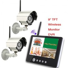 LEYI 9 pollice TFT Digitale 2.4G Wireless Telecamere Audio <span class=keywords><strong>Video</strong></span> Baby monitor 4CH Quad DVR Sistema di Sicurezza Con luce di notte di IR Telecamere