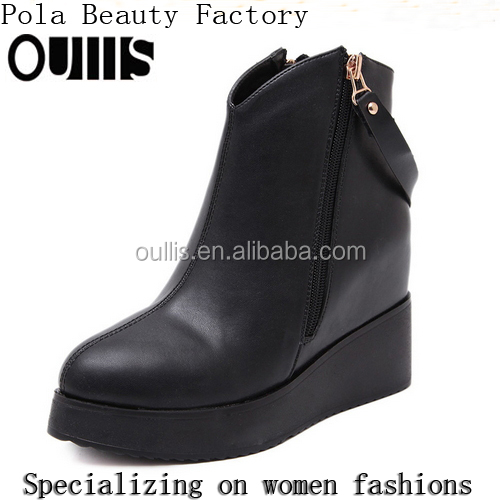 wholesale wedge ankle boots women fashion ankle boot black boots PC4024