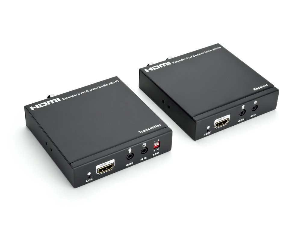 HDMI over Single Coax Extender, Transmitter and Receiver, 100M