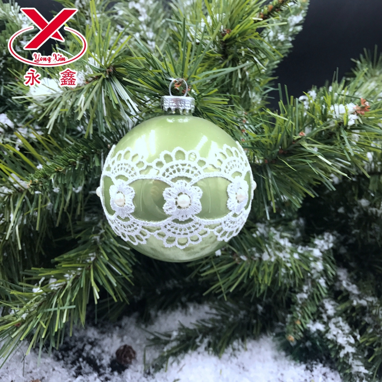 New arrival best price 8 cm christmas glass ball tree decoration