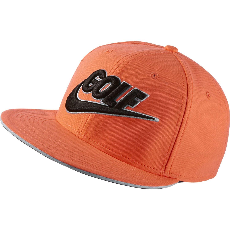 02c127355a8 Get Quotations · NEW Nike True Badge Novelty 2.0 Orange Black Flatbill  Adjustable Hat Cap