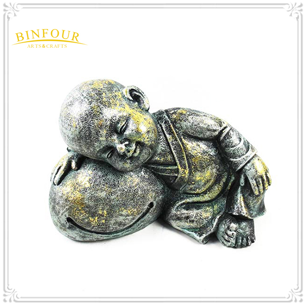 High Purity Magnesium oxide A Cute Baby Monk statue