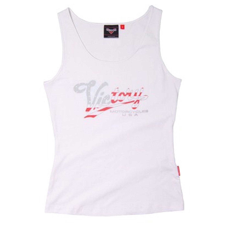 Victory Motorcycle New OEM Women's White USA Tank Top Shirt, 2XL, 286325912