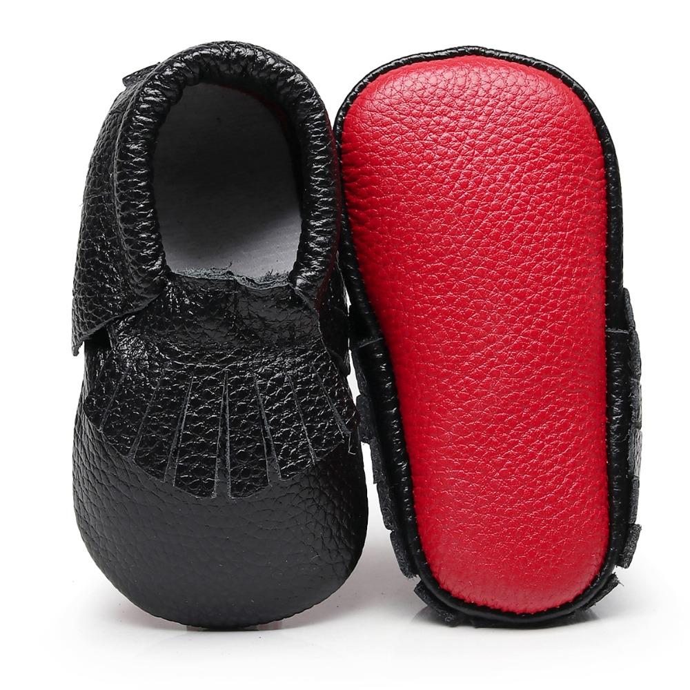 e6f8c188cd5 Genuine Leather Cute Fringe Infantil Baby Boy Girl Shoes Red Bottom ...