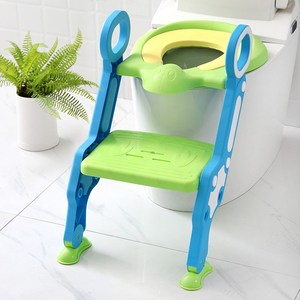 New Design Portable Folding Ladder Toilet Baby Potty Training Chair Plastic Toilet Stand Safety Seat for Children Baby