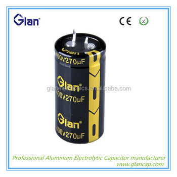 Low Esr High Voltage E-caps Electrolytic Motor Starting Capacitor ...