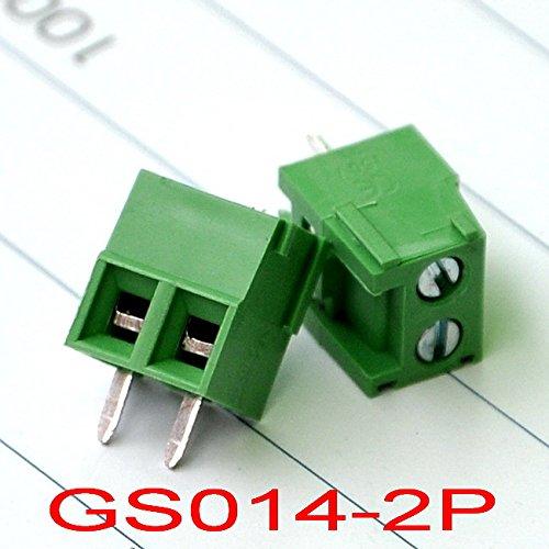 "Electronics-Salon 200 PCS 2 Poles 3.5mm/0.138"" PCB Universal Screw Terminal Block."