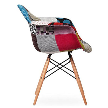 Meubles De Maison Salle A Manger Utilise Tissu Accoudoir Confortable Chaises Avec Des Jambes