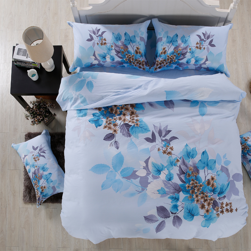 China Professional Home Textile supply big flowers design cotton bedding set 3D bedsheets